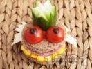 Рецепта Детски сандвич Жаба Жабурана
